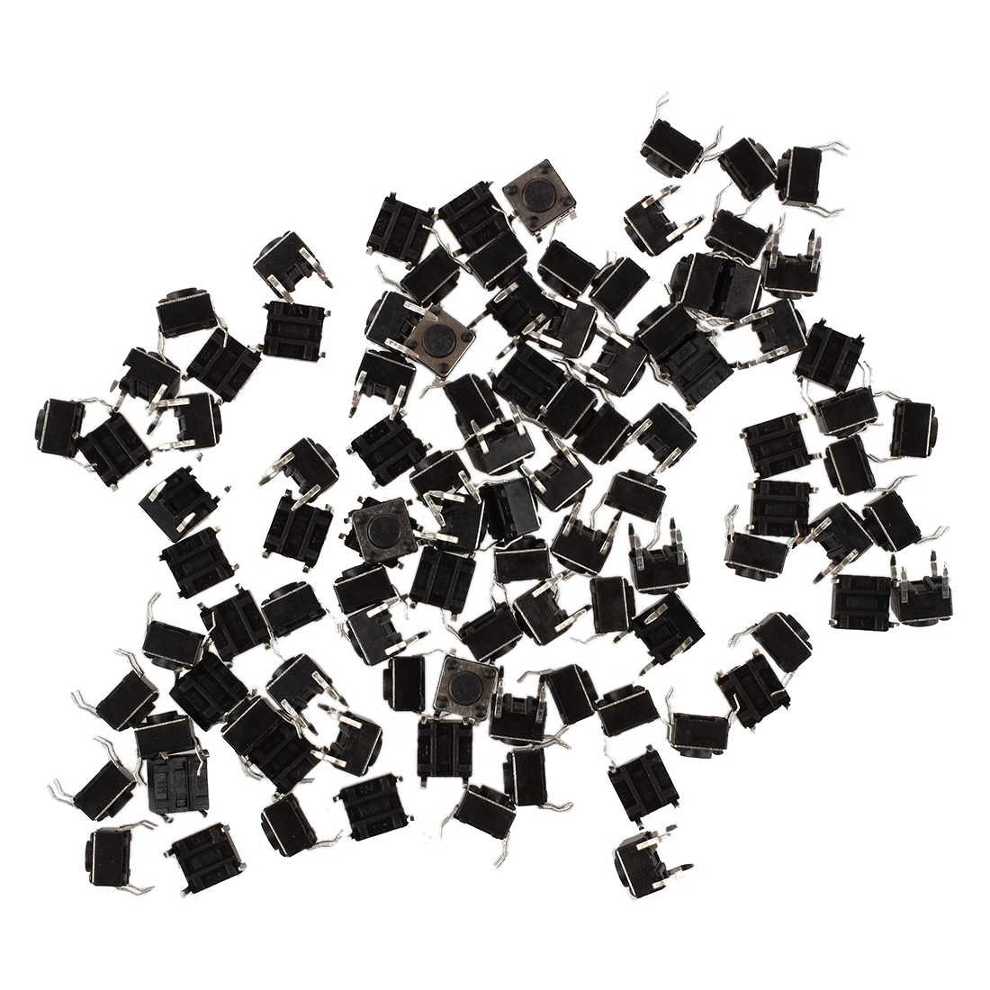 100 Pcs 6x6x4.5mm Panel PCB Momentary Tactile Tact Push Button Switch 4 Pin DIP Drop shipping