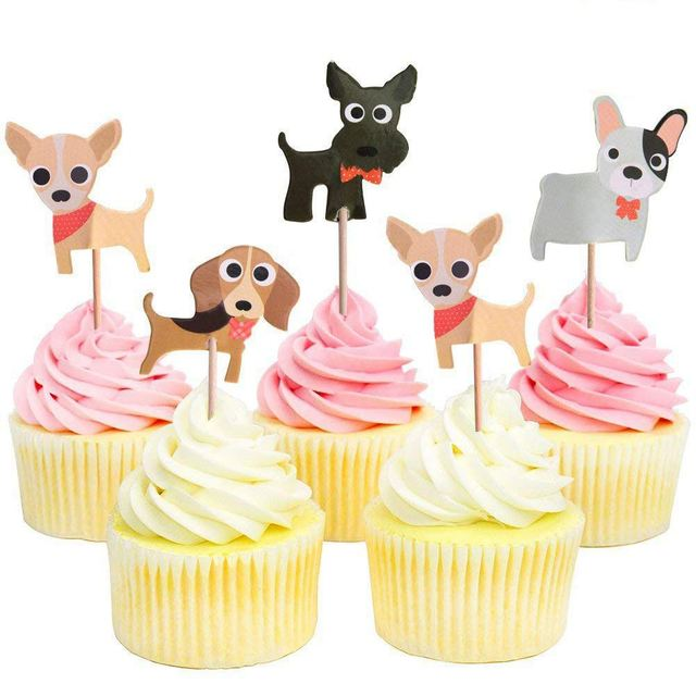 Dog Cupcake Toppers Puppy Cupcake Toppers Pet Theme Baby Shower