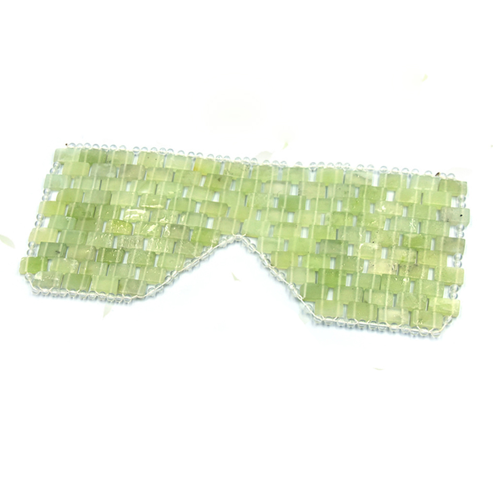 Nature Sleep Face Massager Jade Stone Germanium Tourmaline  Wrinkle Remove Sleep Eye Mask Fot Travelling And Office Eye Protect