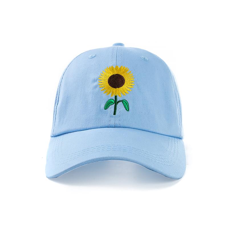 Item New Fashion Sunflower Embroidery Baseball Caps Cotton Snapback Hats  Caps For Men Women Adjustable Couple Cap acdf83b82777