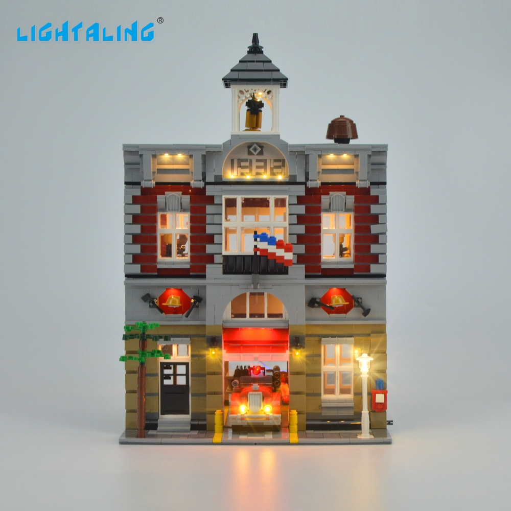 Lightaling LED Light Kit för Creator Fire Brigade Light Set Kompatibel med 10197 och 15004 (INTE inkludera modell)
