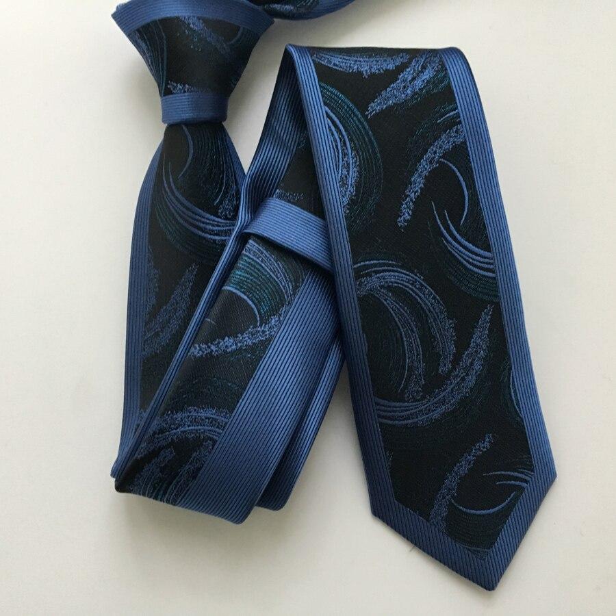 Lazo flaco casual del diseñador Corbatas tejidas de jacquard de alta - Accesorios para la ropa - foto 1