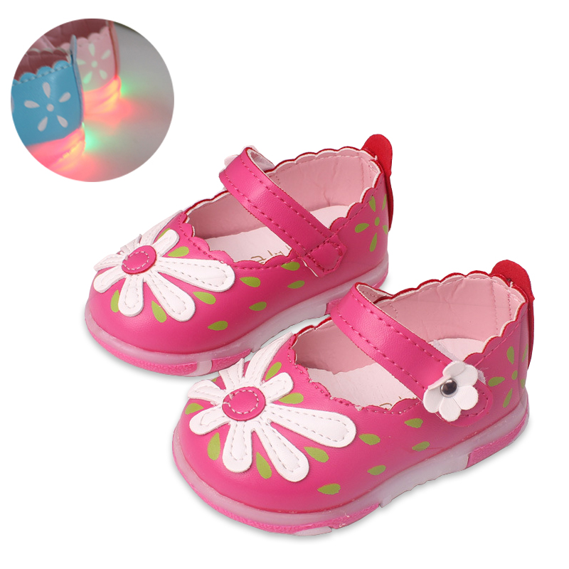 Baby Girls leather shoes Princess Flowers Toddlers Kids casual Shoe Summer Cute Toddler Girl Shoes Sandals