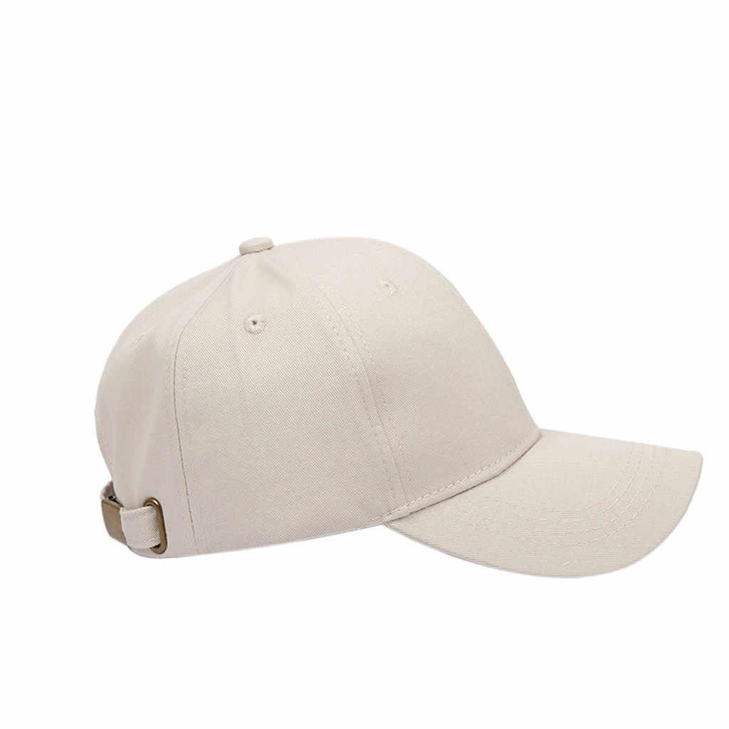 KANCOOLD หมวกเบสบอลสีทึบหมวกผู้หญิงผู้ชาย Snapback หมวกหมวก Casual กีฬากลางแจ้งปรับได้หมวก Unisex
