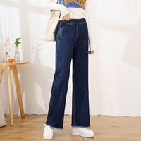 2018 New Spring And Autumn Fashion Casual Loose High Waist Cotton Female Women Girls Wide Leg