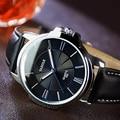 Top Brand Business Watches Fashion Genuine Leather Quartz Watch Men Casual Wristwatch Relogio Masculino Clock Men