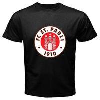 Hot Selling 100% Cotton Tee Shirts New St Pauli Fc Sankt Pauli Red Logo Men'S T Shirt