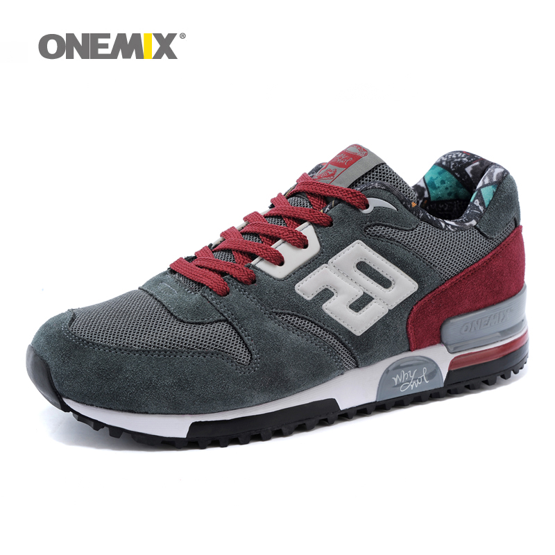 ONEMIX Men Running Shoes Nice Retro Classic Run Athletic Trainers For Men Comfortable Outdoor Walking Shoes for Men Jogging Shoe