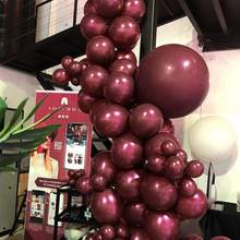 "5"" 10"" 12"" 18"" Burgundy Balloons Pearl Matte Crystal Balloons Wine Red for Garland Filling Wedding Baby Shower Decorations(China)"