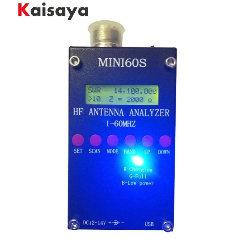 купить new Bluetooth Android verison MINI60S update for MINI60 1 - 60 Mhz HF ANT SWR Antenna Analyzer Meter C4-006 по цене 7343.73 рублей