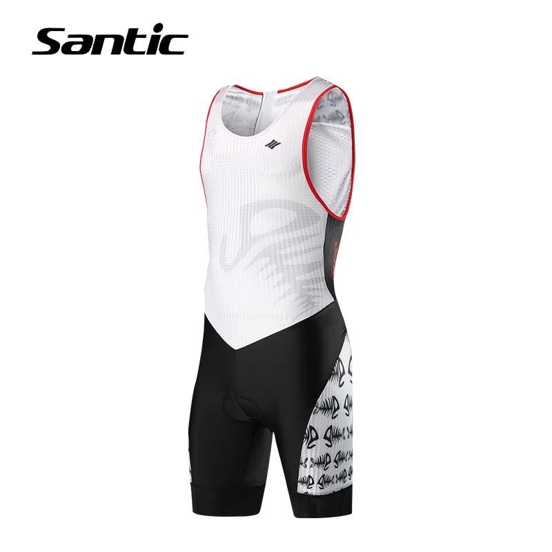 Santic Cycling Jersey Sets Men Sleeveless 2018 Pro Team Bike Set Triathlon Swimming Running Cycling Skinsuit Bicycle Clothing santic black triathlon clothing men