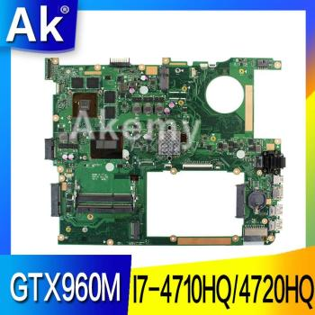 AK G771JW Laptop motherboard for ASUS G771JM G771JW G771J G771 Test original mainboard I7-4710HQ/4720HQ GTX960M