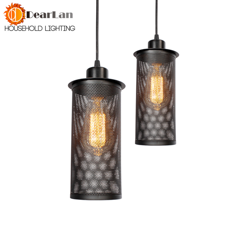 American Vintage Iron Pendant Lamp Bra Dining Room Black Pendant Light Edison E27 110V-220V Dropping Lights Free Shipping(DL-50)  free shipping ems pendant light vintage lighting iron lamp american rustic lamp living room lights pendan