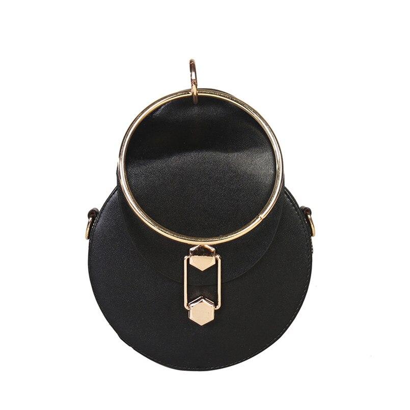 Women Fashion Circular Leather Chain Crossbody Bag Ladies Pretty Zipper&Hasp Messenger Party bolsos Shoulder Bag bolsos mujer S