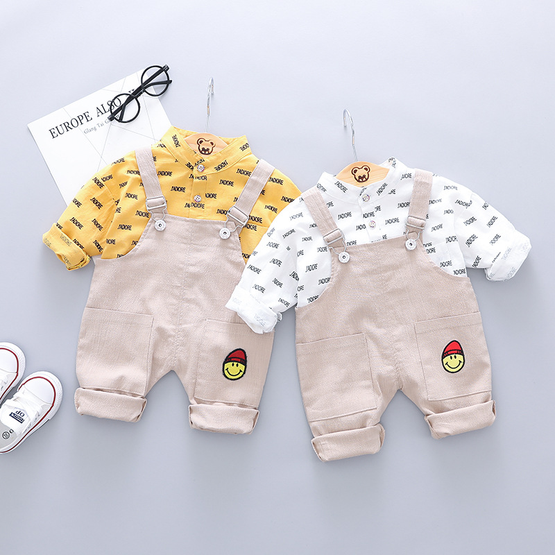 2019 spring boys clothing set kids clothes boy 2pieces outfits long sleeve tshirt +pants kids tracksuit children gentleman suit
