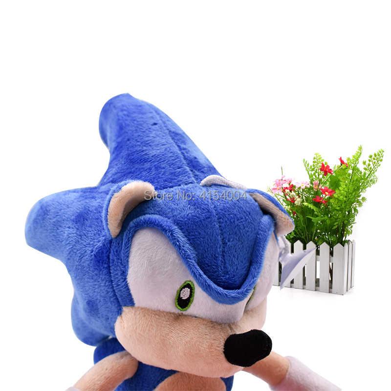 20 pçs/lote Sonic Boneca Macio Azul do Sonic Figura Dos Desenhos Animados Brinquedos De Pelúcia Bicho de pelúcia Dolls Presente de Natal Dia Das Bruxas Para Crianças