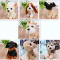 1pcs 18cm  animals kawaii baby toy plush stuffed staff pug dog Huskies kids toys dogs Beagle Chihuahua Rottweiler Labrador toys