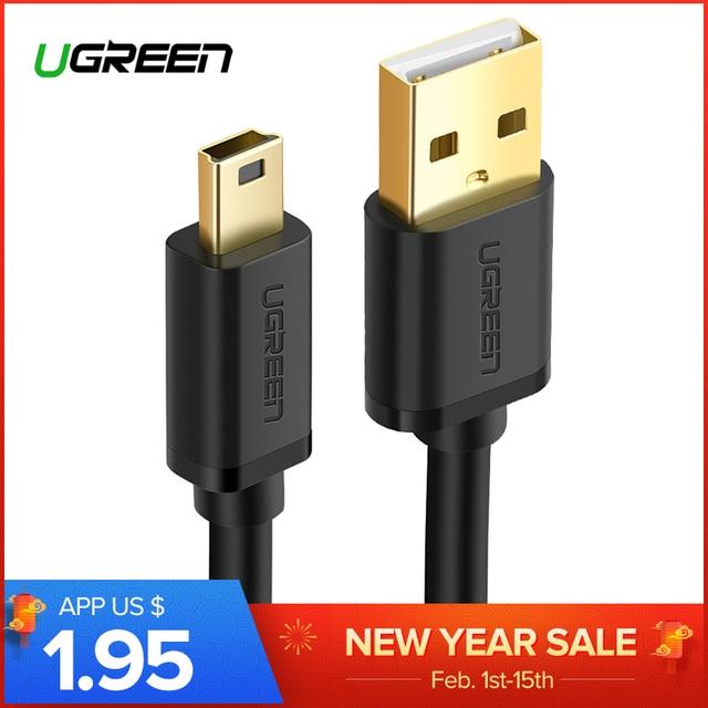 Ugreen Mini USB Cáp Mini USB để USB Nhanh Sạc Cáp Dữ Liệu cho MP3 MP4 Máy Nghe Nhạc Xe DVR GPS Kỹ Thuật Số máy ảnh HDD Mini USB