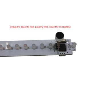 Image 2 - KS25 Sound Control VU Meter Crystal Sound Column Audio Level Meter LED Music Spectrum VU Tower For Home Theater