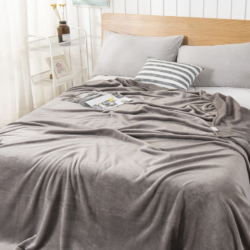 Liv Esthete 2019 Hot Sale Flannel Blanket Summer Sheet bed cover Sofa Throw Queen King Size Coral Fleece Blankets 1PCS in Blankets from Home Garden