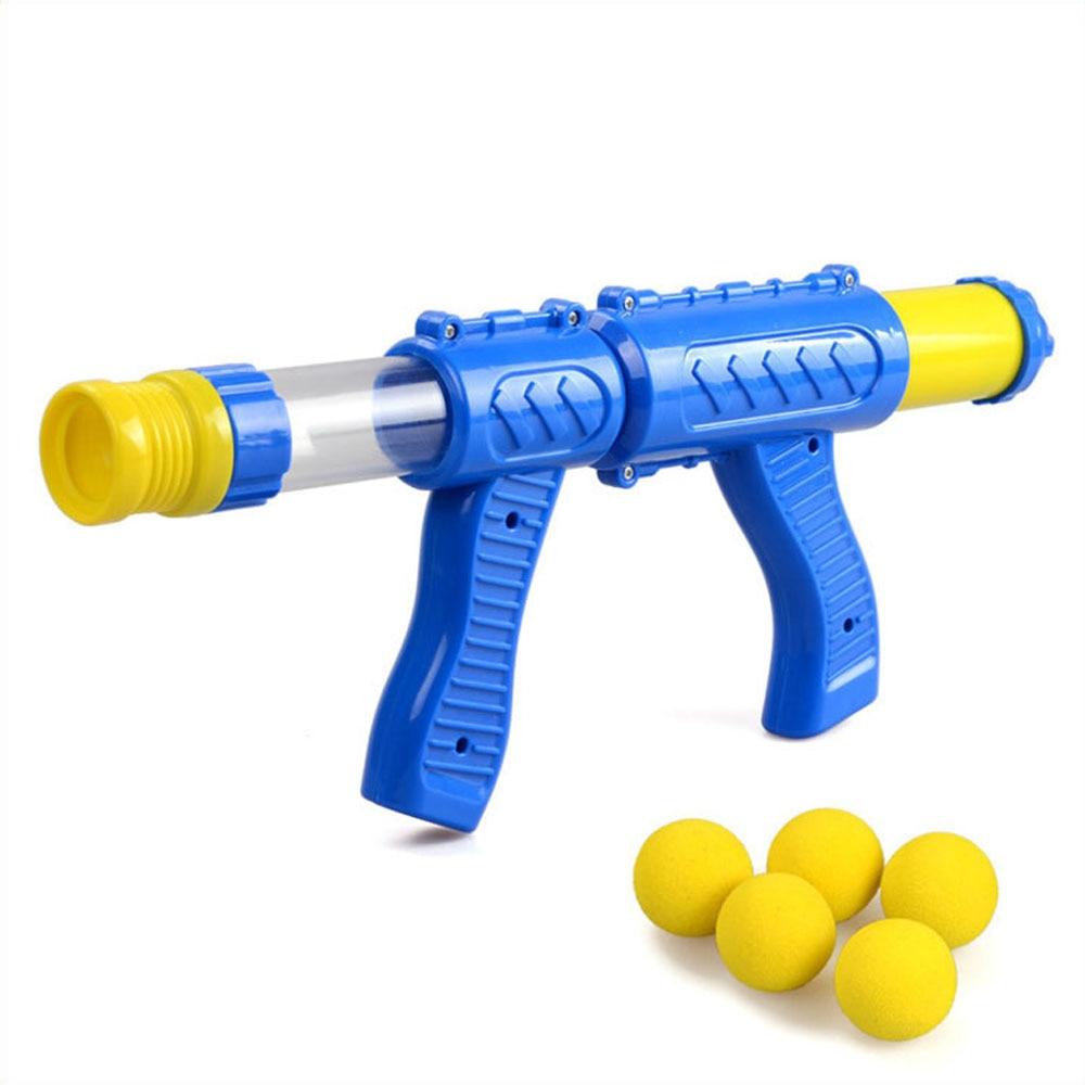 Ar alimentado crianças interativa pistola aerodinâmica eva bala suave tiro de ar arma desktop indoor jogo de tiro ao ar livre para crianças