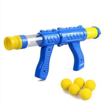 Air Powered Kinder Interaktive Aerodynamische Pistole EVA Weiche Kugel Luft Schießen Pistole Desktop Indoor Outdoor Schießen Spiel für Kinder