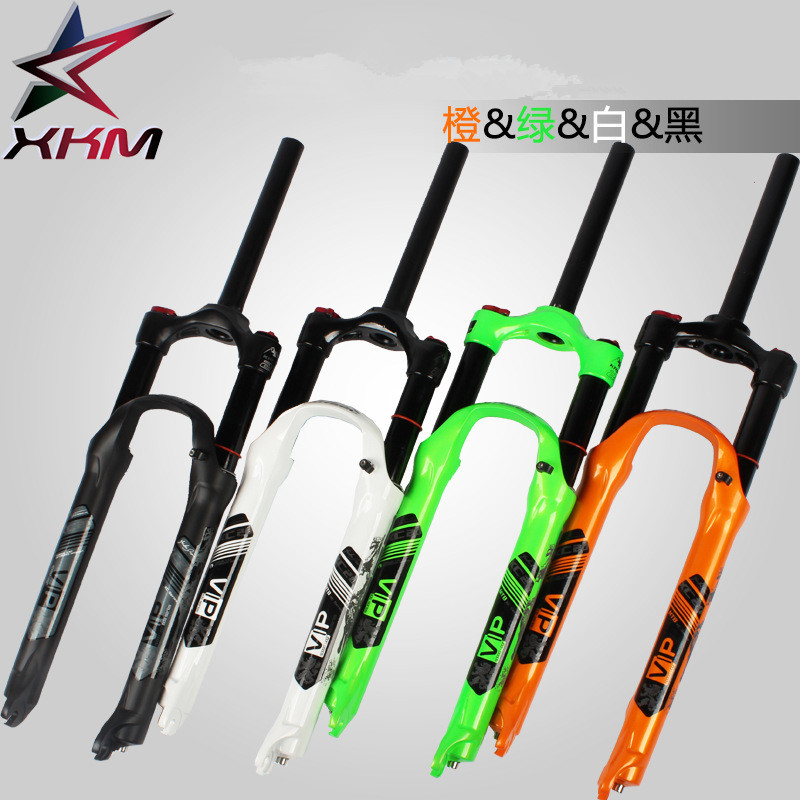 2017 Bicycle fork <font><b>MTB</b></font> mountain bike fork 26 <font><b>27.5</b></font> High quality bicycle air <font><b>suspension</b></font> fork <font><b>mtb</b></font> gas fork Black, white, green image