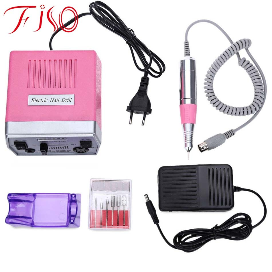 Fiso EUplug Professional Electrical Nail Care Art Equipment 3Colors Pen Shape Electric File Drill Manicure Stainless Steel Tools