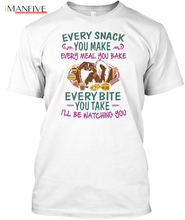 купить Pekingese , And Tees - Every Snack You Make Meal Bake Popular Tagless Tee T-Shirt Streetwear harajuku Print Cotton funny t shirt по цене 978.05 рублей