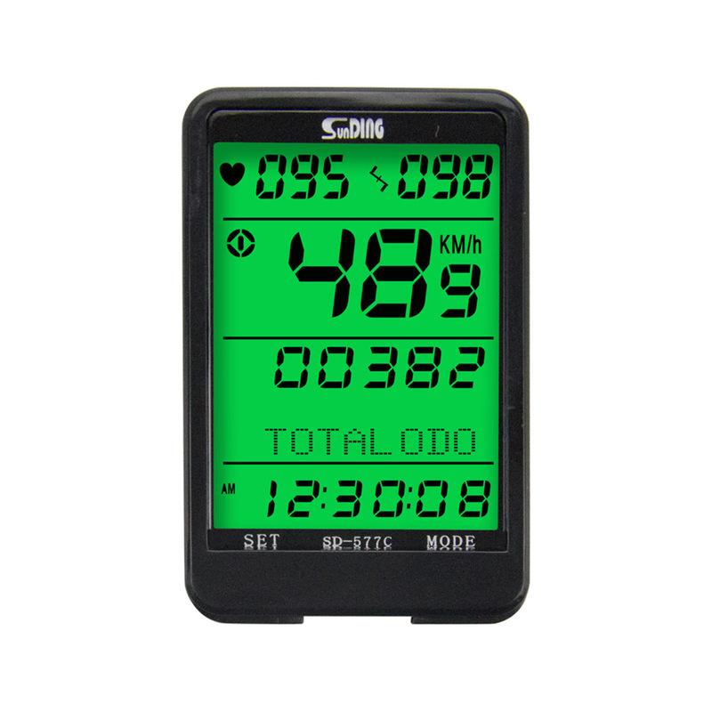 все цены на HLBY-Sunding SD-577C bike speedometer wireless heart rate cadence ant monitor stopwatch bicycle computer cycling odometer acce онлайн