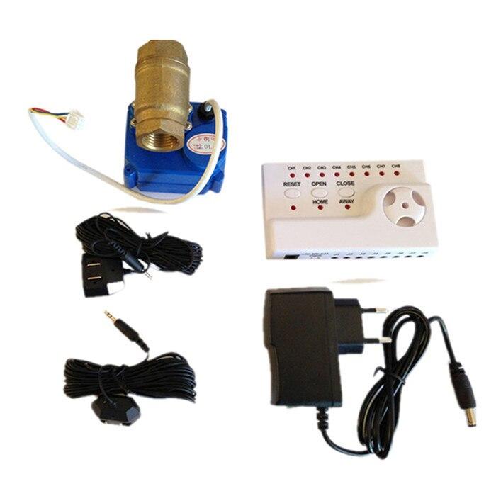 Prevent Water Loss Water Leakage Detetor Sensor Alarms Monitor Flowmeter Indicator Water Saver HIDAKA WLD 806 DN25 single valve