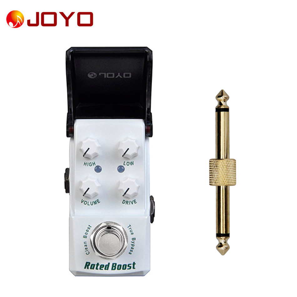 NEW Guitar effect pedal JOYO  Rated Boost Ironman series mini pedal JF-301 + 1 pc pedal connector 76zy01 mig wire feeder motor dc24 1 8 18m min 0 8 1 0mm roll without bracket
