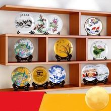 Ceramic Ornament Beauty Figurines Home Furnishing Crafts Chinese Style Porcelain Plates Handicraft Wedding Desktop Decor G $