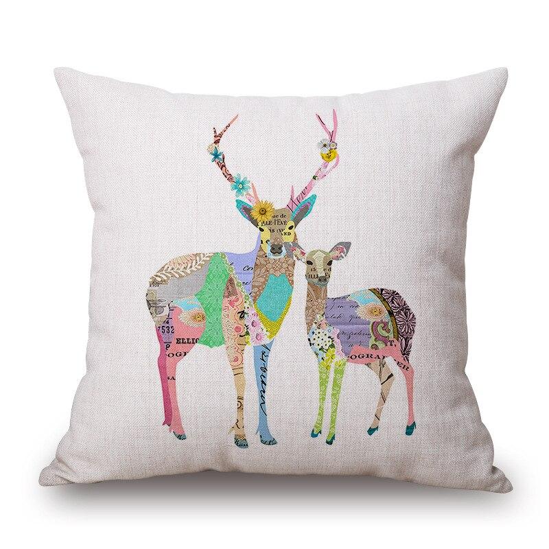 ᗑ1 unidades casual color pintura animales patrón asiento abrazo ...