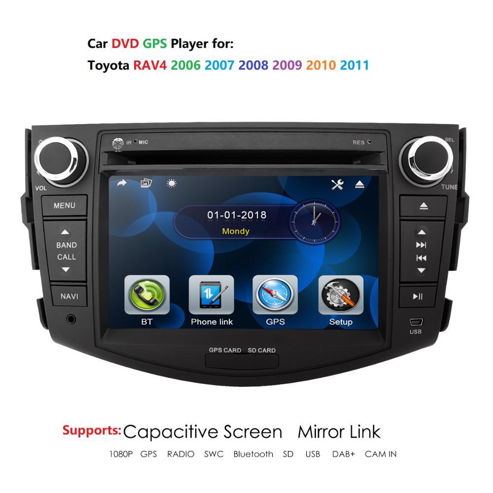 Автомобильный мультимедийный плеер 2 Din, DVD, GPS для Toyota RAV4 RAV 4 2006 2012, GPS, радио, навигация, зеркальное соединение, головное устройство, 8 ГБ, SD карт