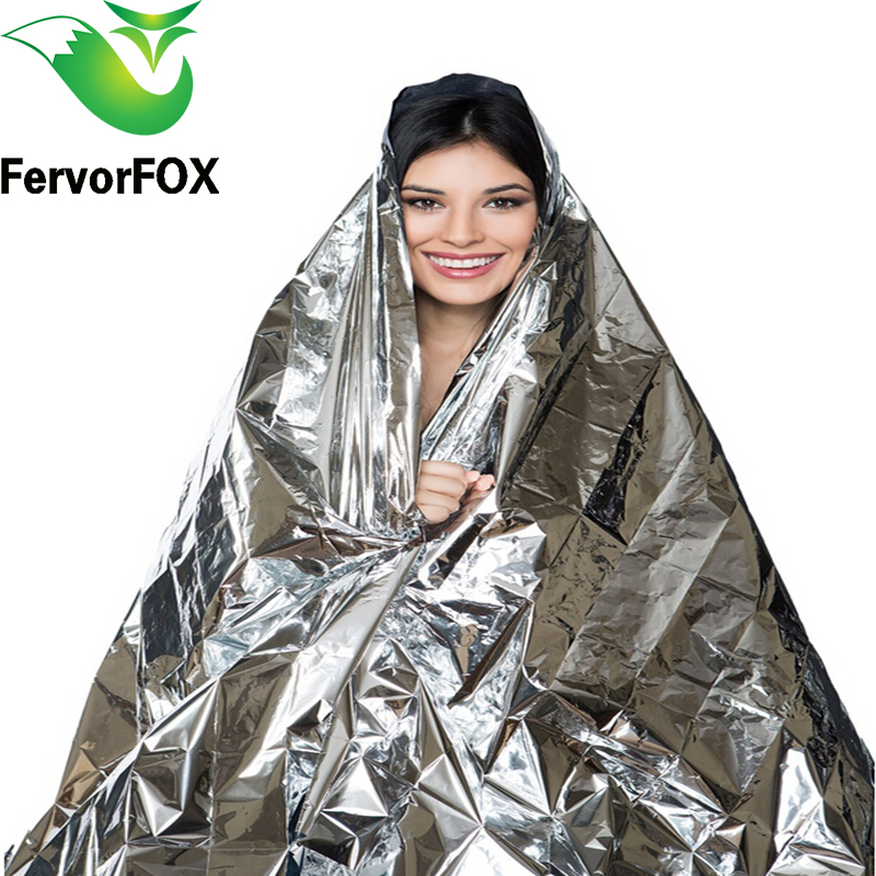 10pcs(210*130CM) Emergency Blanket Survival Rescue Insulation Curtain Outdoor Life-saving Military Silver 1pc folding outdoor military emergency survival foil thermal rescue blanket shelter insulation curtain life saving blanket