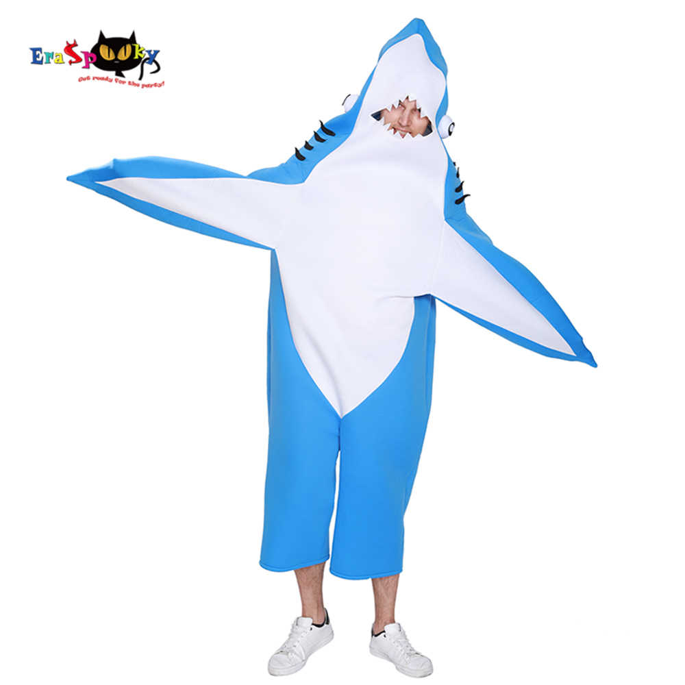 Detail Feedback Questions About Blue Shark Costume Adult Kids Party