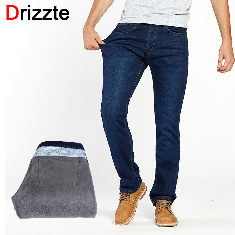 Thermal Warm Flannel Lined Jeans for Men