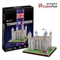 3d modellen speelgoed cubic fun 3d-bouwplaat puzzel spel toren van londen c715h