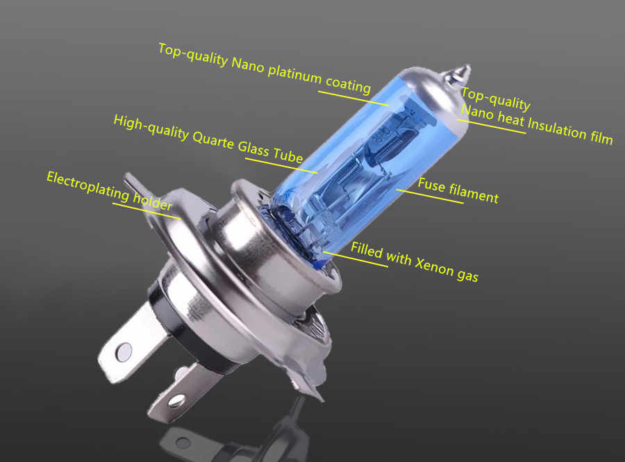 H1 H3 H4 H7 H8 H9 H11 9005 HB3 9006 HB4 галогенные лампы 55W 100W 12V суперяркие белые Автомобильные фары 6000K лампа для автомобиля фар