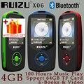 Ruizu X06 Pantalla de Audio Sin Pérdidas Flac Hifi Portable Del Deporte de Digitaces Mp 3 Reproductor de Música Mp3 Con Auriculares Bluetooth 4 GB Radio FM TF