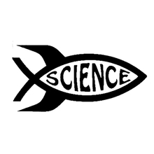 11.8cm*5.9cm Science Fish Fashion Car Styling Stickers Decals Vinyl S4-0413