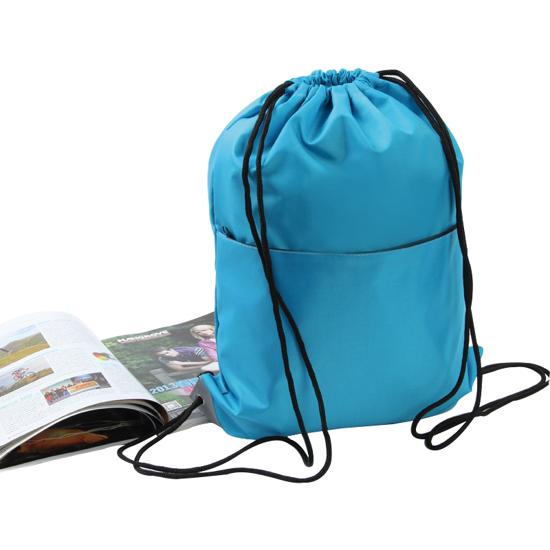 Outdoor Hiking Camping Portable Drawstring Bag Gym Sack Sackpack Backpack Cinch Bag Outdoor Sports Fitness Workout