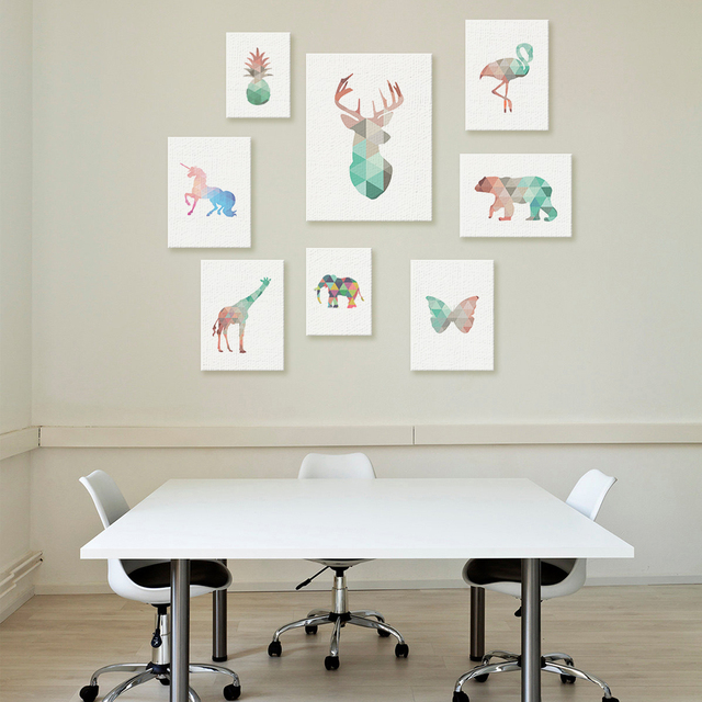 online-shop funlife geometrische tier design moderne büro, Modern Dekoo