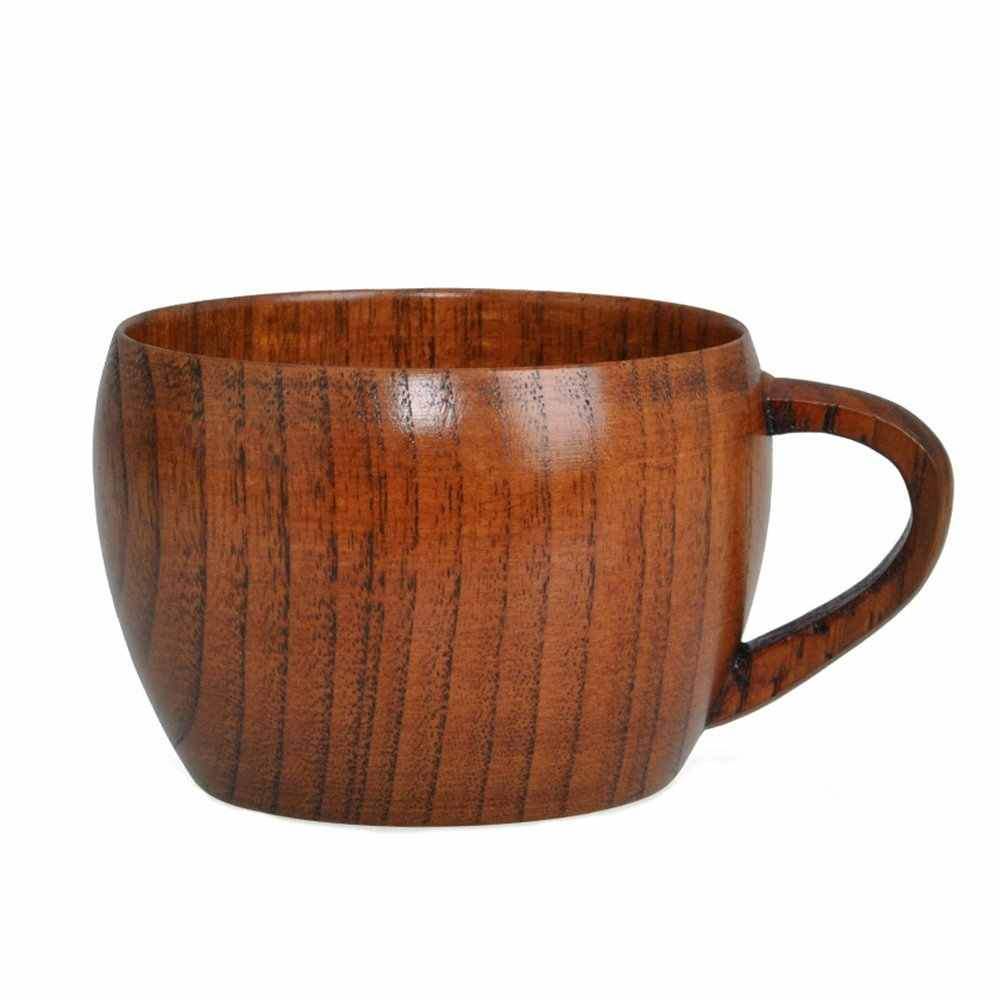 Wooden Cup Handmade Natural Wood Coffee Tea Juice Milk Water Cup Drinkware Tools Christmas Gift