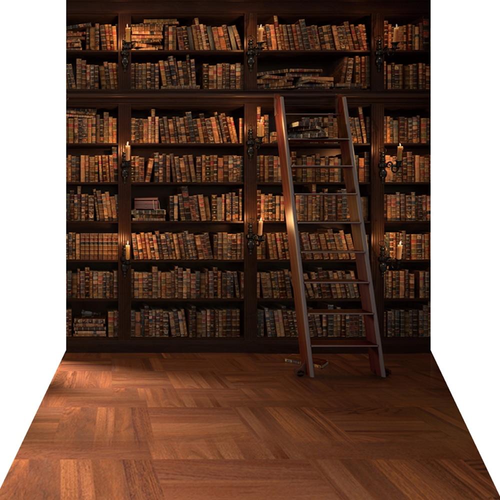 library backdrop bookshelf studio portrait background huayi xt newborns customize kp cloth silk bookcase books outside props