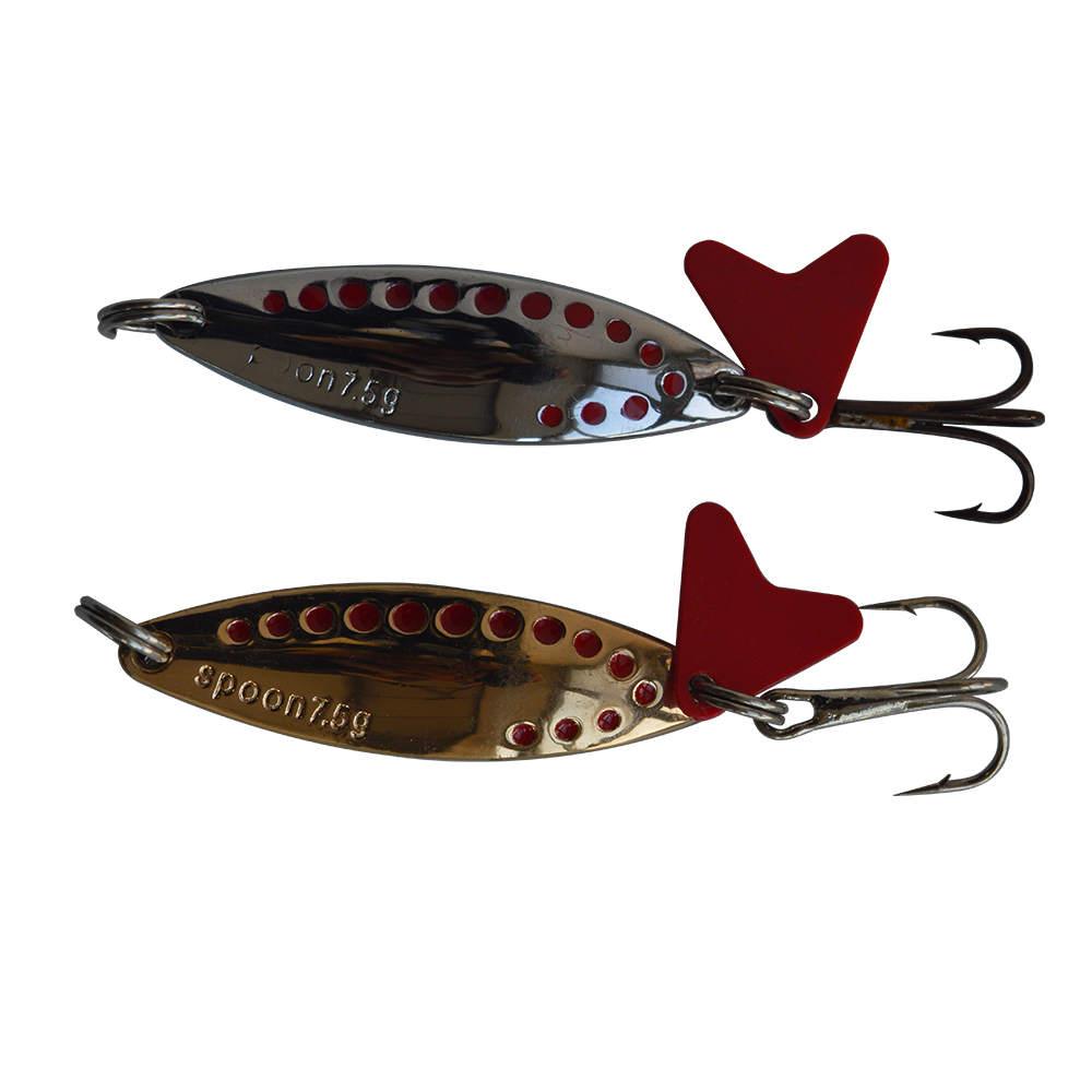 10 pcs metal trolling spoon lure Exported to USA Market fishing bait spoon lures 7.5g fishing lure Retail fishing tackle