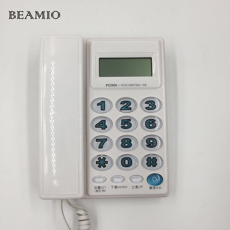 bilder für Hohe Qualität Mode Big Button Anrufer-id Telefon Festnetz Ohne Batterie Für Home Office Telefon Für Alte Menschen