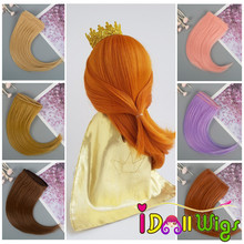 1piece extension DIY Doll Hair 15*100cm Natural Color Curly Piece for BJD SD Russian Handmade Clothing Wigs