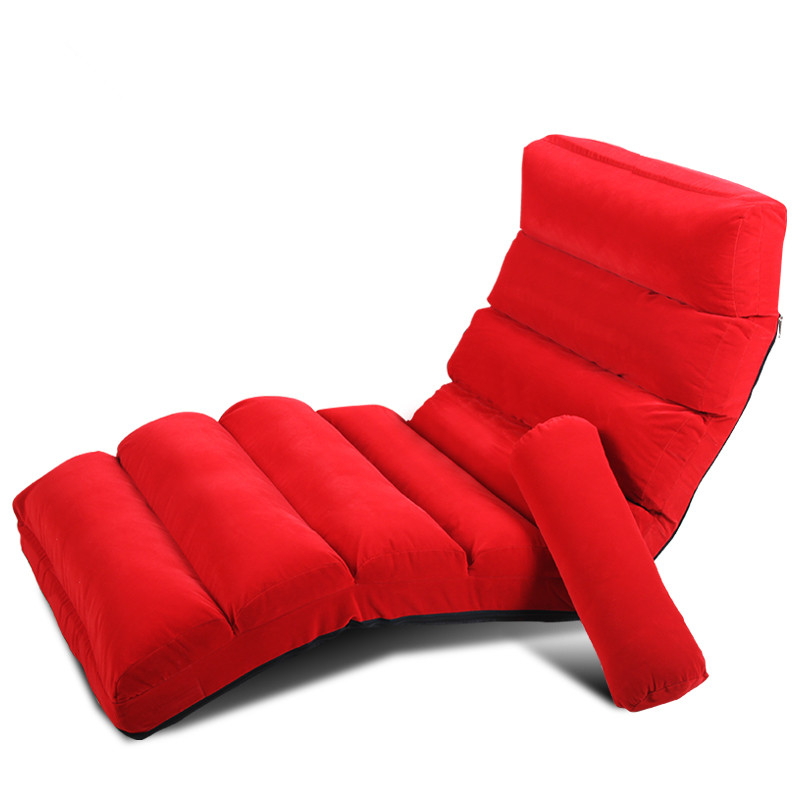 Lounge Chair Living Room Day Bed SleeperJapanese Style Floor Foldable Sofa Upholstered Chaise Indoor